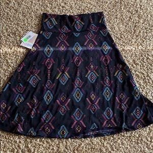 Azure skirt slinky material